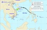Áp thấp nhiệt đới suy yếu thành một vùng áp thấp trên vùng biển Quảng Trị - Quảng Ngãi