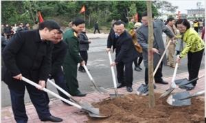 Lãnh đạo tỉnh Hưng Yên dự lễ phát động Tết trồng cây năm 2016