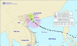 Bão số 7 bắt đầu đổ bộ vào Quảng Ninh, gió giật cấp 10-11
