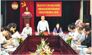 Bí thư Tỉnh ủy Đỗ Tiến Sỹ làm việc với Ủy ban MTTQ Việt Nam tỉnh và các tổ chức chính trị - xã hội