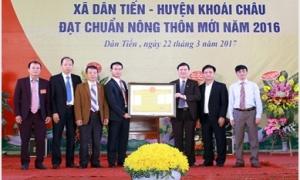 Xã Dân Tiến đón Bằng công nhận đạt chuẩn nông thôn mới
