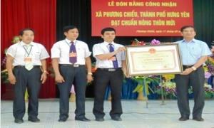 Xã Phương Chiểu đón Bằng công nhận đạt chuẩn nông thôn mới