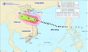 Trưa chiều 15/9, bão số 10 đổ bộ vào Nghệ An - Quảng Trị gây gió mạnh cấp 11-12, giật cấp 15