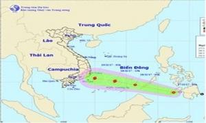 Áp thấp nhiệt đới đi vào Biển Đông khả năng mạnh lên thành bão