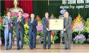 Sáng 23/11, xã Nghĩa Trụ, huyện Văn Giang tổ chức lễ đón bằng công nhận xã đạt chuẩn nông thôn mới.